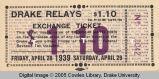 Drake Relays, 1939, Exchange Ticket