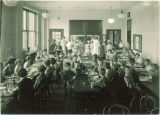 School children having lunch in cafeteria, The University of Iowa, April 1928