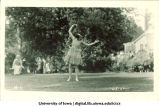 Dancer performing on lawn, The University of Iowa, June 5, 1922