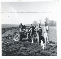 Teaching contour layout to Voc Ag students on Ralph Heinrich farm, 1963