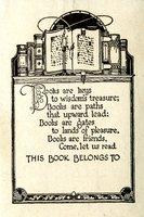 Books are Keys to Wisdom's Treasure Bookplate