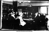 Professor Bolton with class in lecture room, Old Dental Building, The University of Iowa, March 29, 1910
