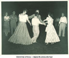 Hick Hawks country dancing club gathering, The University of Iowa, 1940s