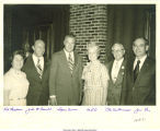 Mary Louise Smith with campaign committee, Iowa Governor Ray and Spiro Agnew, 1968