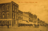 Westside of the Oskaloosa Town Square, Late 1800's, Iowa