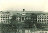 Aerial view of Old Capitol, the University of Iowa, 1920s