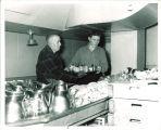 Dishwashers in the Iowa Memorial Union, the University of Iowa, circa 1956