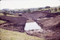 Dam construction on the Nelson farm.