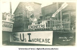 Mecca Day parade float, The University of Iowa, 1915