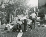 Lawn display, Delta Chi House, Homecoming, 1951