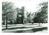 Sidewalk to Medical Laboratories, the University of Iowa, July 9, 1940