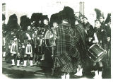 Scottish Highlanders waiting to perform, The University of Iowa, 1930s