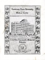 Louisiana State University Medical Center Bookplate