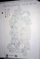 Iowa Great Lakes Watershed - Loon Lake Slope Study Map.