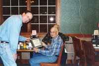 2004 Woodland Owner of the Year - Clifford Hinson received his award from Chairperson Todd Heckenberg