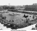 Hospital garden, Iowa City, Iowa, ca. 1930
