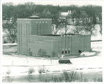 Theatre Building in winter, The University of Iowa,  1960