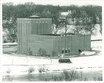 Theatre Building in winter, The University of Iowa,  1960