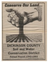 Dickinson County Soil Conservation District Annual Report - 1992-93.