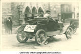 Automobile in Mecca Day parade, The University of Iowa, 1922