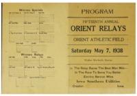 Orient, Iowa Relays - 1938