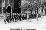 Battalion formation south of Armory, The University of Iowa, 1918