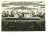 Choir performing in Main Lounge of Iowa Memorial Union, The University of Iowa, 1930s