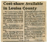 Cost-Share Available In Louisa County