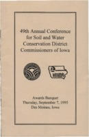 Soil Conservation Awards Banquet Program - 1995