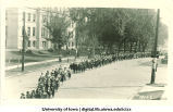 Procession on Washington St. by Schaeffer Hall, The University of Iowa, 1920s