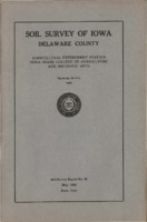 Soil Survey of Iowa: Delaware County.