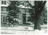 Psychopathic Hospital central section in winter, The University of Iowa, 1950