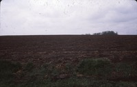 Erosion in a farm field.