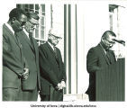 Moment of silence at Martin Luther King, Jr. convocation, The University of Iowa,  1969?