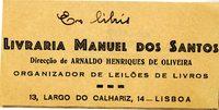 Livraria Manuel Dos Santos Bookplate
