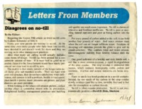 Letters From Members