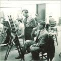 Art students painting, The University of Iowa, 1940