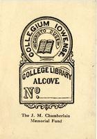 J.M. Chamberlain Memorial Fund Bookplate