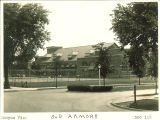 Old Armory and tennis courts, The University of Iowa, 1929