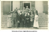 Reunion on Old Capitol steps, The University of Iowa, 1910s