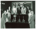 Billiards team in the Iowa Memorial Union, the University of Iowa, 1950s?