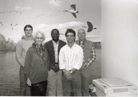 1991 -  Employees -  Front - Dorothy Davis & Doug Ensminger. Back - John Fruehling, Terry Cosby & John Horan.