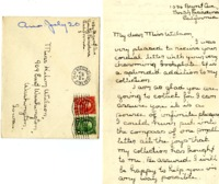 Helen Fenton letter to Helen Patricia (Patsy) Wilson exchanging bookplates.
