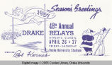 Drake Relays Promotional Post Card, 1957