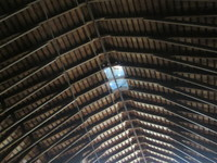 007. Barn ceiling and skylights