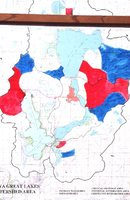 Iowa Great Lakes Watershed Area - Priority Area for Critical Drainage Map.