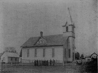 St. Peter Lutheran Church in Garnavillo, Iowa -1900 pre