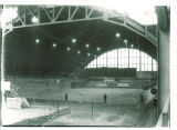 Construction inside the Armory, the University of Iowa, 1920s?