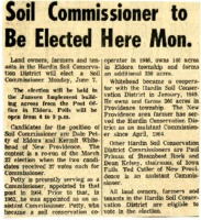 Soil commissioner to be elected.