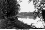 Iowa River, east bank, Iowa City, Iowa, ca. 1940